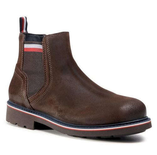 Trzewiki TOMMY HILFIGER - Corporate Elastic Suede Boot FM0FM03053 Cocoa GT6 699.00PLN