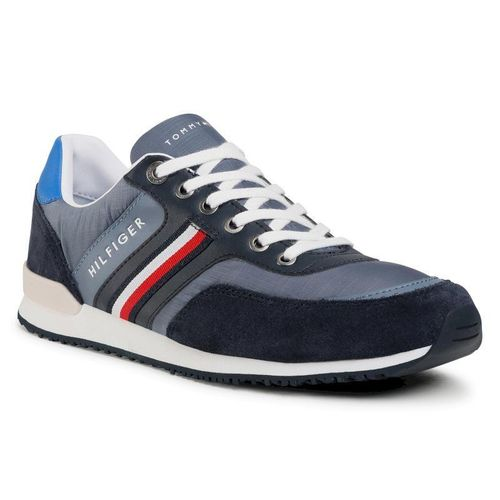 Sneakersy TOMMY HILFIGER - Iconic Material Mix Runner FM0FM02847 Grey Dusk PO7 299.00PLN