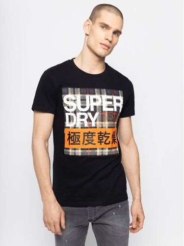 Superdry T-Shirt Crafted Check Tee M1000074A Czarny Regular Fit 99.00PLN